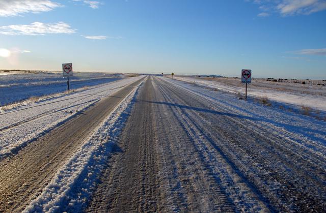 Ruta Nacional Nº 3 cortada por nieve y la provincia en alerta meteorológico
