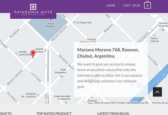 El domicilio del sitio de ventas de gobernador Buzzi es el patio trasero de la casa de gobierno de Chubut