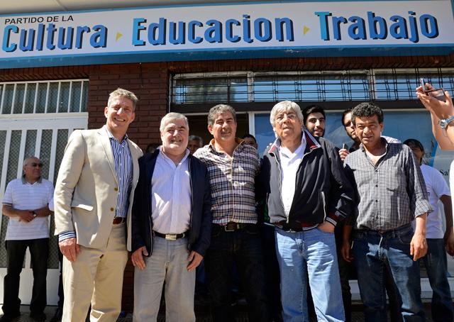 El frente del partido inaugurado este mediodía en Comodoro Rivadavia - Foto: OPI Santa Cruz/Francisco Muñoz