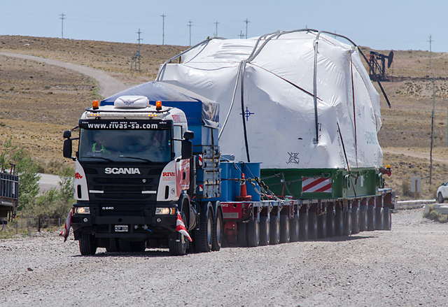 PAE trasladó equipos de alta tecnología a Cerro Dragón