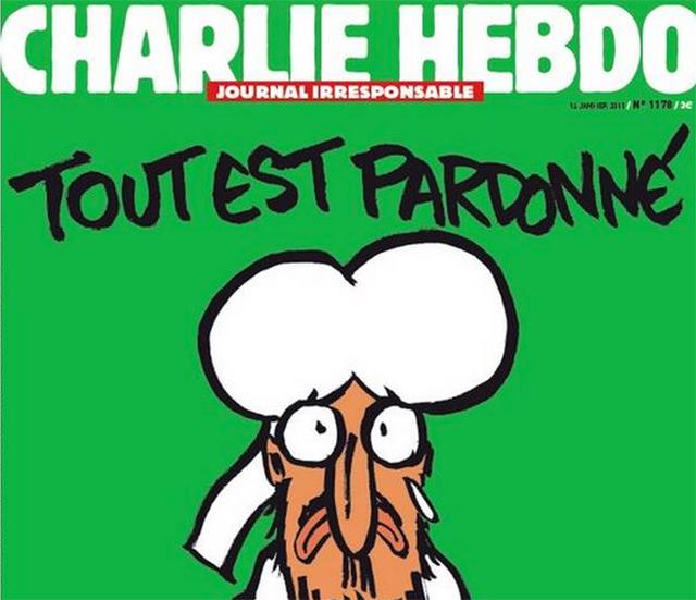 Con Mahoma en la tapa, ya empezó la impresión de Charlie Hebdo