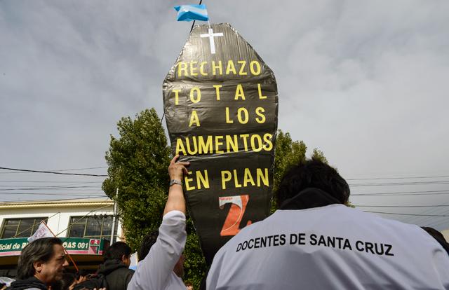 Otro paro docente, paritarias y movilización - Foto: OPI Santa Cruz/Francisco Muñoz