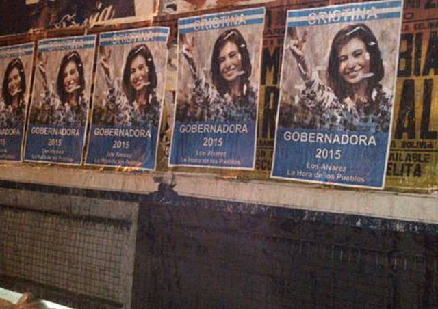 """Aparecen afiches de """"Cristina Gobernadora"""""""