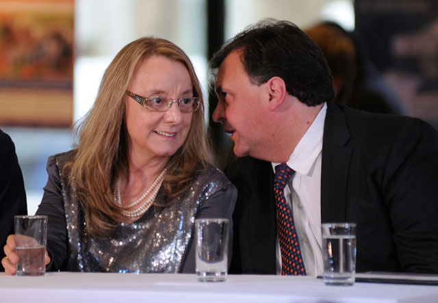 Alicia Kirchner junto a Javier Belloni intendente de El Calafate - Foto: OPI Santa Cruz/Francisco Muñoz