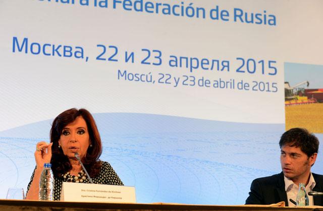 """La Presidente apostó a profundizar la relación con Rusia: """"Argentina es un país para invertir"""""""
