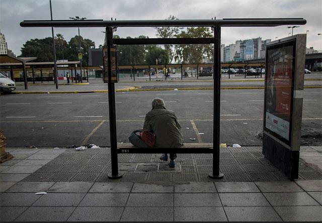 El transporte fue clave para que el paro se sintiera con fuerza en todo el país - Foto:  LA NACION  / Aníbal Greco