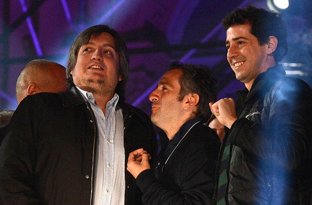 En la provincia miden a Máximo,  Alicia y a Peralta, lo incluyen como candidato del Frente para la Victoria - Foto: Presidencia