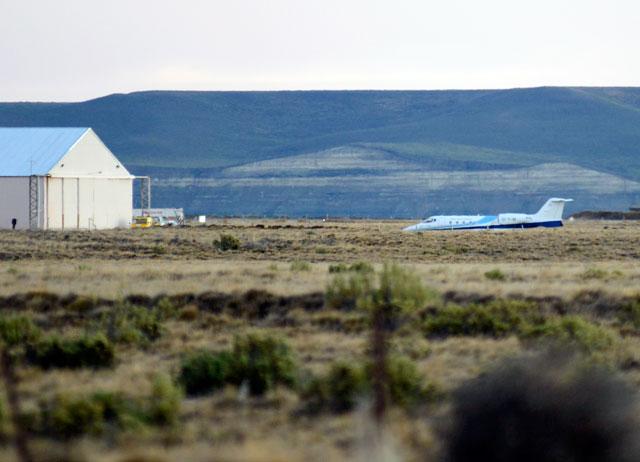 El T10 momentos antes de despegar en el aeropuerto de Río Gallegos - Foto: OPI Santa Cruz/Francisco Muñoz