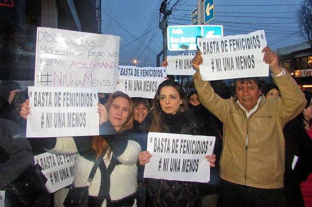 """Los afiches con la frase """"Basta de Fenicidios"""" - Foto: Facebook"""