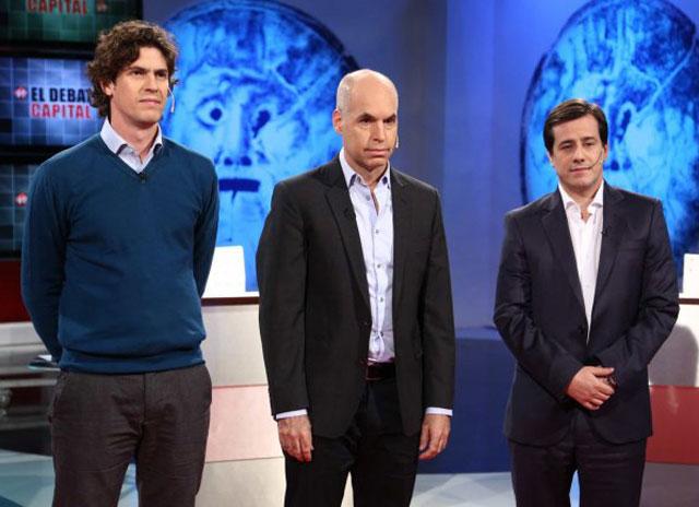 Larreta, Lousteau y Recalde se trenzaron en un áspero debate