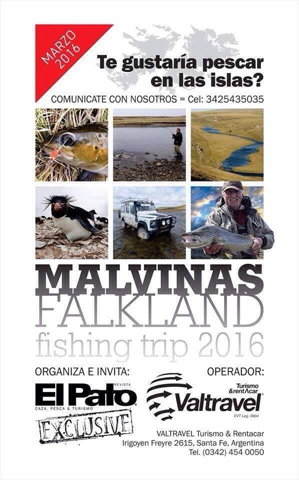 Empresa argentina te invita a pescar a las Malvinas/Falkland, por LAN y con pasaporte en mano