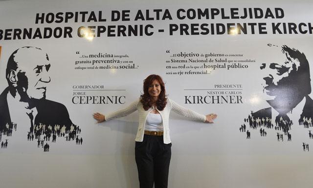 La Presidenta de la Nación inaugura el Hospital de El Calafate – Foto: Presidencia