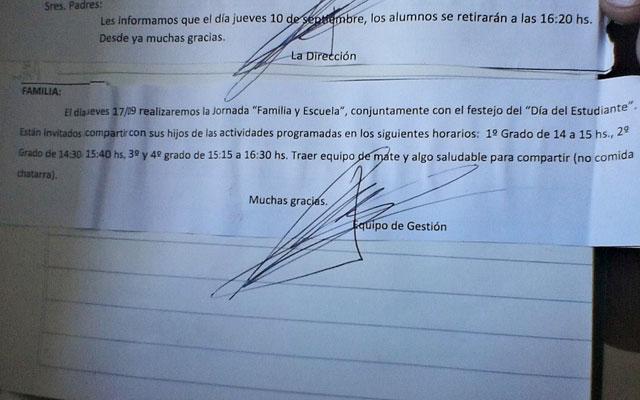 Intendente Pablo Grasso, hace campaña del FPV en las escuelas primarias y amenaza con retirar los equipos