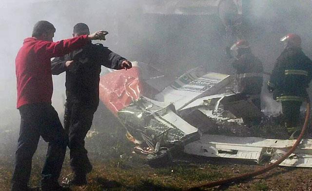 Cayó una avioneta de Gendarmeria en Las Heras. Dos muertos