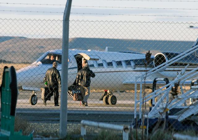 El Lear Jet 35A LV-ZSZ de Lázaro Baéz se despistó y se prendió fuego