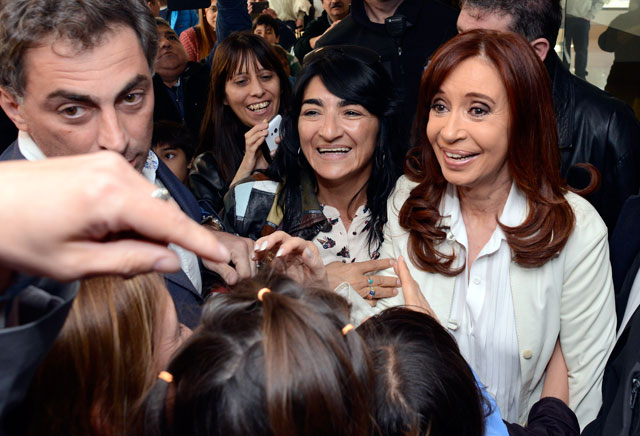 Cristina Kirchner llega al aeropuerto de Río Gallegos – Foto: OPI Santa Cruz/Francisco Muñoz