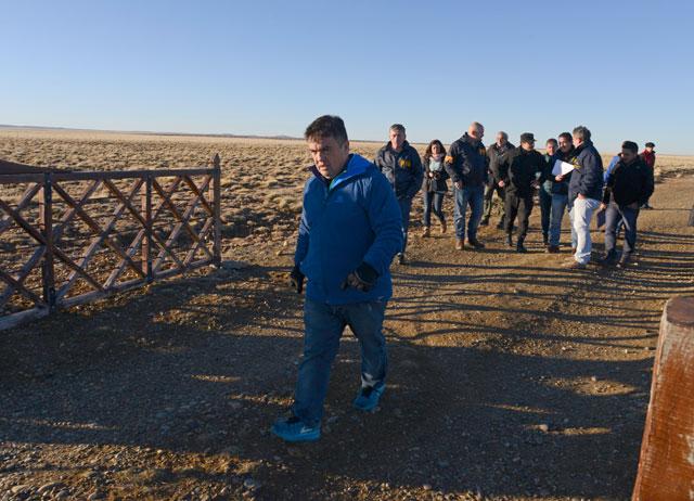 El fiscal Guillermo Marijuan termino de allanar las estancias de Lázaro Báez, camino a El Calafate – Foto: OPI Santa Cruz/Francisco Muñoz