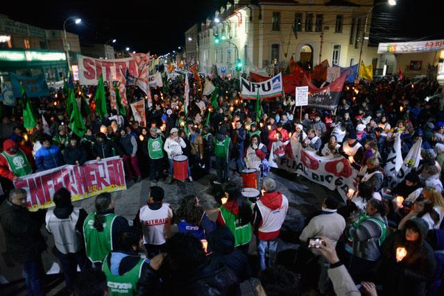 Importante movilización en Río Gallegos convocada por la MUS - Foto: OPI Santa Cruz/Francisco Muñoz