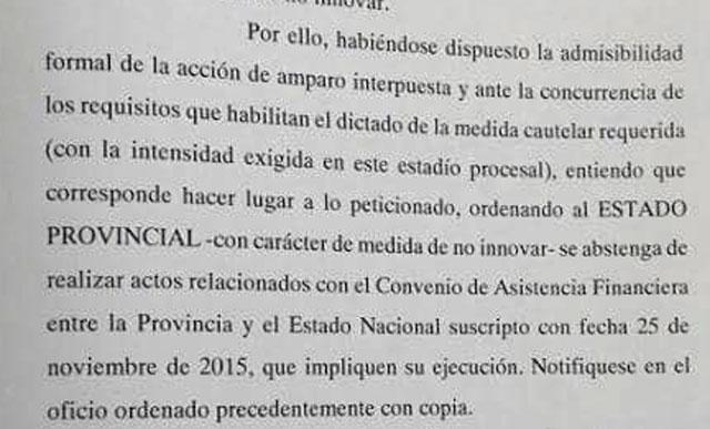 El Juez Marincovic trabó un endeudamiento de 4.500 millones y recibió otro pedido para anular el de 10 mil millones