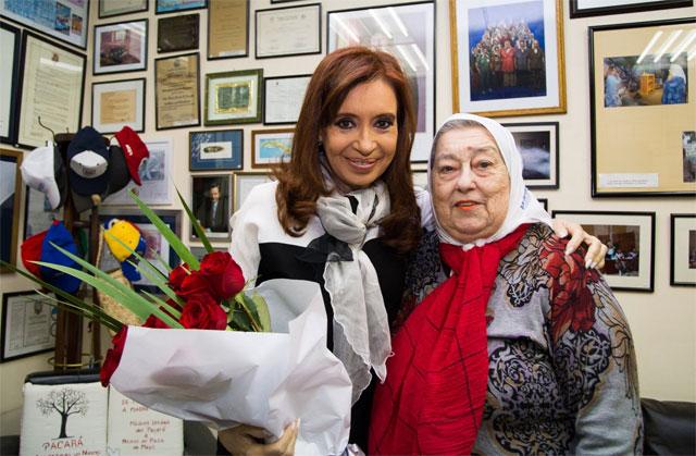 Cristina se reunió con Bonafini, antes de la ronda 2.000 de las Madres