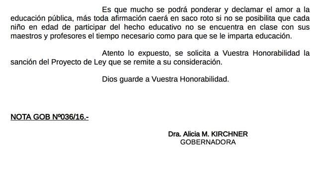 Medidas viejas para conflictos nuevos: Alicia Kirchner va por la Emergencia Educativa y el sector docente reacciona