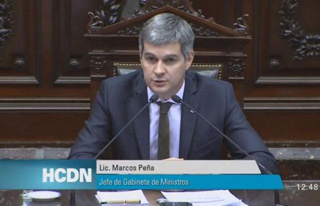 Peña admitió una caída del PBI del 1% y prometió cambios en Ganancias