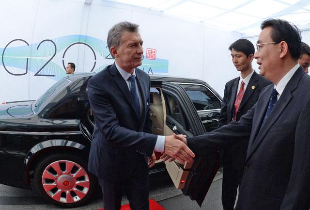 """Macri: """"Tengo la clara intención de trabajar con el G-20 contra el terrorismo, el narcotráfico y la pobreza"""""""