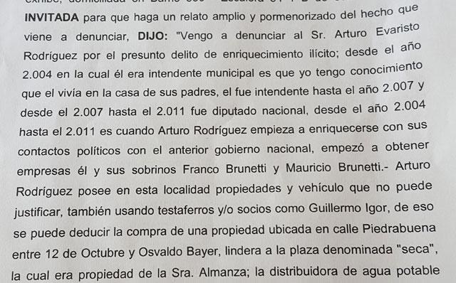 Concejal de Puerto Deseado pidió que se investigue a Arturo Rodriguez, su familia y los hermanos Brunetti, entre otros