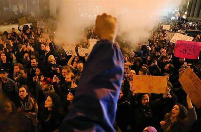 Elecciones en EE.UU.: miles de personas se manifestaron en Nueva York contra Donald Trump