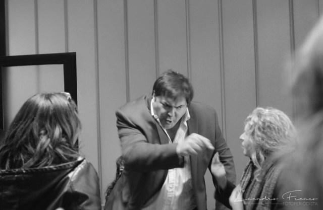 Violencia verbal del Presidente de la Caja de Previsión, con los jubilados - Foto: Leandro Franco