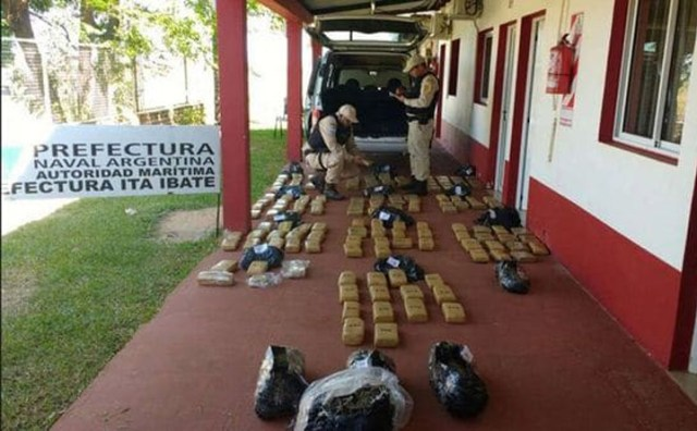 Decomisaron 150 kilos de marihuana en operativo en Corrientes