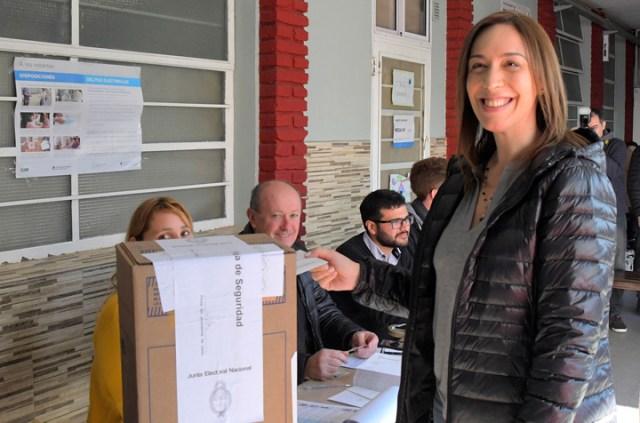"""María Eugenia Vidal: """"En ningún momento dije, ni digo, que ganamos la Provincia"""""""