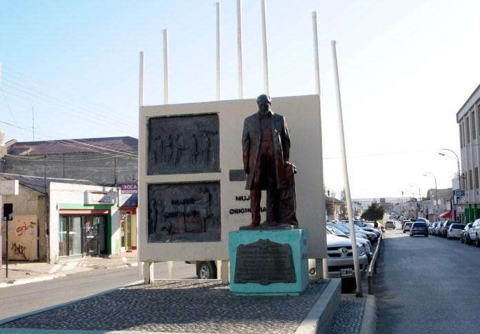 El monumento a Julio Argentino Roca en Río Gallegos