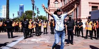 Sabina Frederic culpó a la Ciudad por los incidentes en el velorio de Diego Maradona