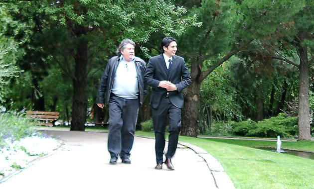 Ricardo y Pablo Barreiro en El Calafate - Foto: OPI Santa Cruz/Francisco Muñoz