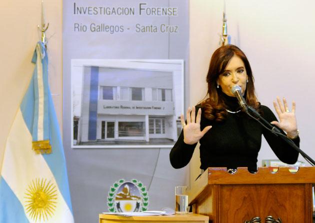 La Presidenta de la Nación Cristina Kirchner en el acto en Río Gallegos - Foto: OPI Santa Cruz/Francisco Muñoz