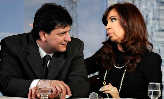 El Diputado de La Cámpora Mauricio Gomez junto a la Presidenta de la Nación Cristina Fernández de Kirchner - Foto: OPI Santa Cruz/Francisco Muñoz