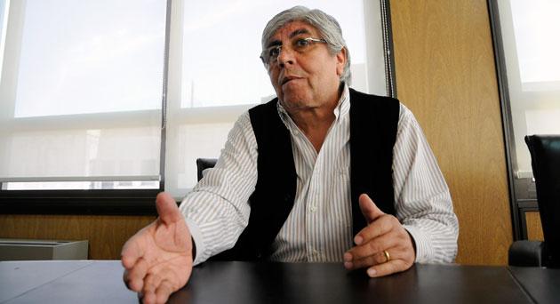 El titular del Sindicato de Camioneros Hugo Moyano - Foto: OPI Santa Cruz/Francisco Muñoz