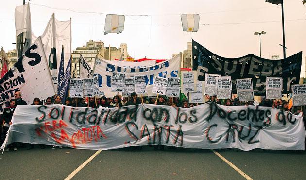 La marcha de Adosac en Capital Federal – Foto: Gentileza Giovanni Leone