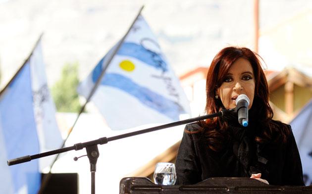 La Presidenta de la Nación Cristina Fernández de Kirchner: discurso en El Calafate - Foto: OPI Santa Cruz/Francisco Muñoz