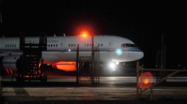 El Tango 01 aterrizó en Río Gallegos a las 18:15 - Foto: OPI Santa Cruz/Francisco Muñoz