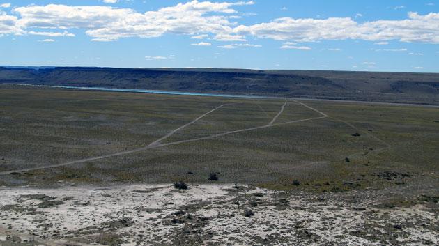 Este es el lugar donde se construira una de las represas La Barrancosa - Foto: OPI Santa Cruz/Francisco Muñoz
