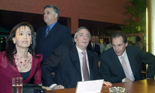 Cristina Fernández de Kirchner, Néstor Kirchner y Cristóbal López - Foto: OPI Santa Cruz