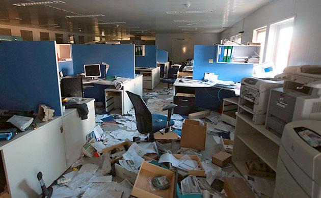 Las oficinas de PAE en Cerro Dragón - Foto: Gentileza LA NACION/Santiago Hafford