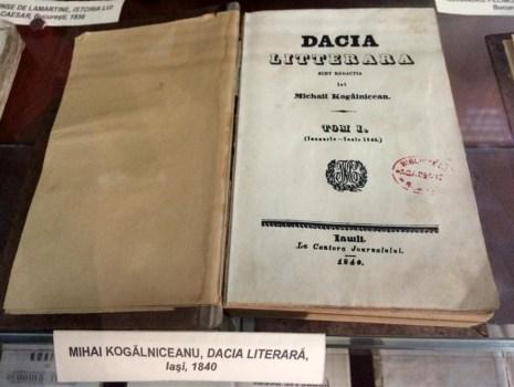 Dacia literara la Muzeul Tiparului
