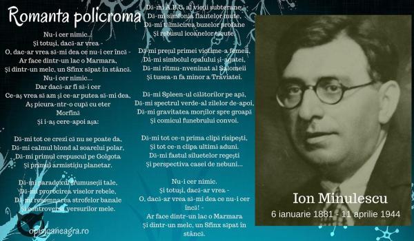 ion minulescu romanta policroma