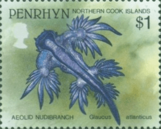 stamp Glaucus atlanticus - Penrhyn (Northern Cook Islands)