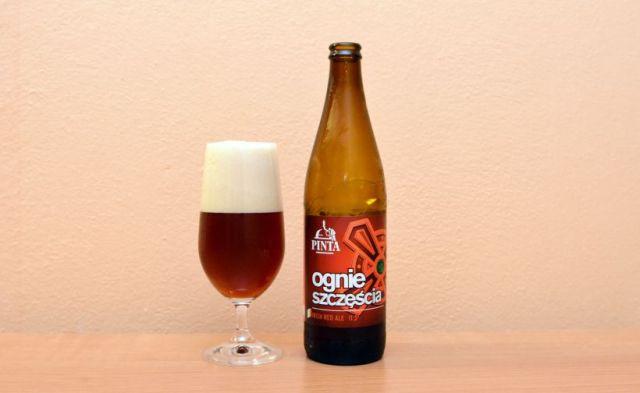 Ognie szczescia, Pinta, Amber Ale, poľské pivo