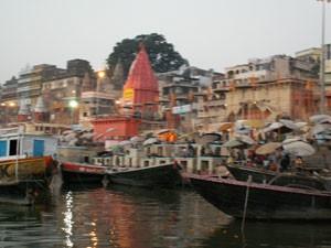 Varanasi bei Sonnenaufgang