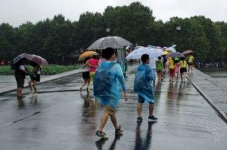 Hangzhou bei Regen